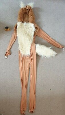 £14.99 • Buy Catsuit Dog Fox Dance Costume With Hood, Approx Size 2, 8 9 10 Yrs