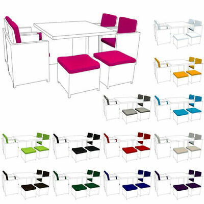 £129.97 • Buy Replacement 12pc Cushion Set To Fit 8 Seater Rattan Garden Furniture Dining Cube