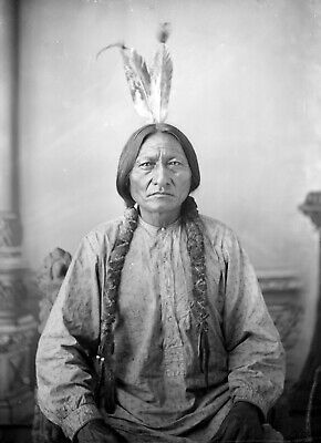 £4.89 • Buy Sitting Bull Native American Indian Lakota 1883 Print Poster Wall Picture A4 +