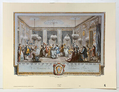£20 • Buy Le Bal Pare French 18th Century Ball By St Aubin Engraving Reproduction Print