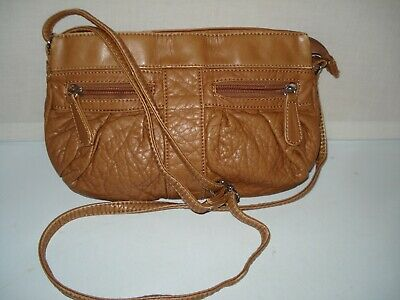 Bueno Small Camel Brown Faux Soft Leather Crossbody Shoulder Bag Euc • 12.88£