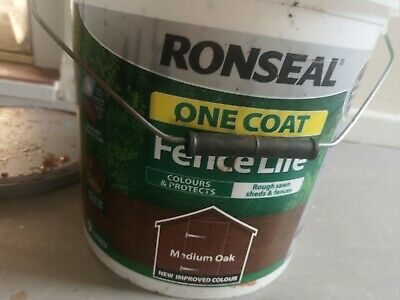 Approximately 3 Litres Of Ronseal Fence Paint In Shade Medium Oak • 3.50£