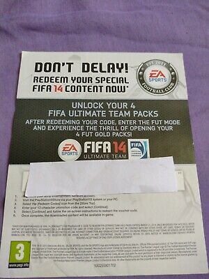£1.50 • Buy Fifa 14 4 Fifa Ultimate Team Packs DL C (Not Actual Game) Ps3