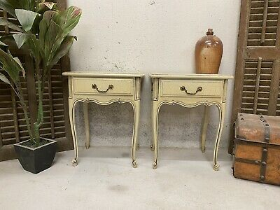 £180 • Buy Vintage French Bedside Tables / Original Paint Shabby Chic Style