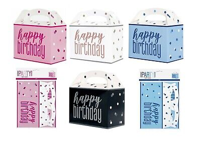 £2.99 • Buy 6 X Childrens Kids Glitz Takeaway Food Meal Box Birthday Party Gift Bag Boxes