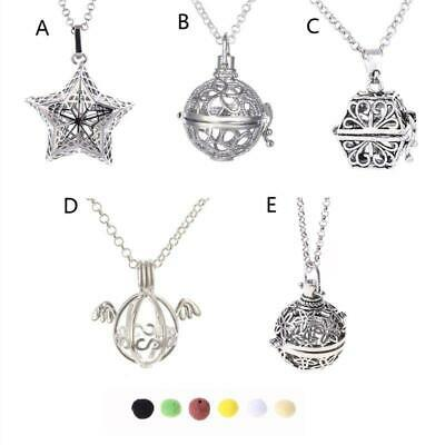 AU5.17 • Buy Aromatherapy Essential Oil Diffuser Locket Pendant Necklace With Lava Stone
