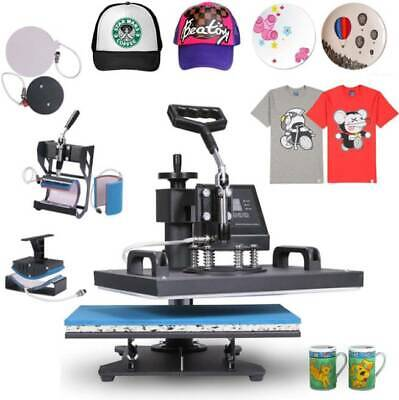 AU136.10 • Buy Heat Press 8 In 1 Heat Press Machine 38x30cm T-Shirt Press Mug Printing Machine