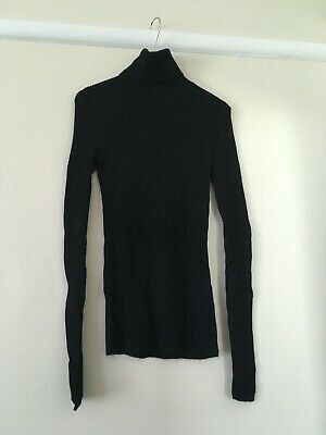 AU15 • Buy UNIQLO Ribbed Turtleneck Pure Wool Long Sleeved Top SIZE XS