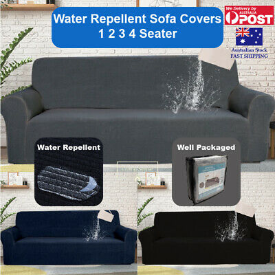 AU38.99 • Buy Sofa Cover Couch Cover 1 2 3 4 Seater Water Repellent Lounge Slipcover Protector