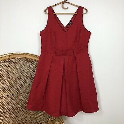 AU35 • Buy City Chic Dress Size S Red Fit & Flare Cocktail Party Corporate Career