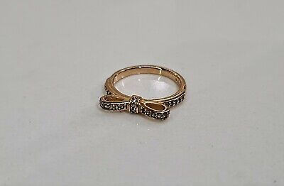AU35 • Buy AUTHENTIC PANDORA ROSE GOLD BOW RING Ale R Size 50