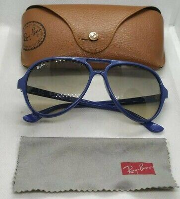 AU42.93 • Buy Ray Ban Rb4125 CATS 5000 Blue Frames Grey Gradient Lenses Sunglasses