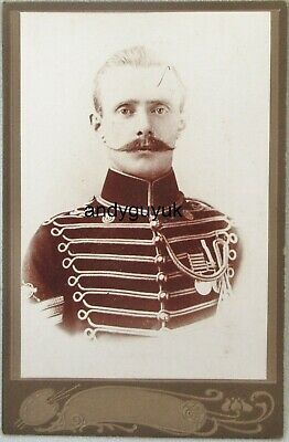 Cabinet Card Soldier South Africa Medal Military India Antique Photo Moustache • 5.50£