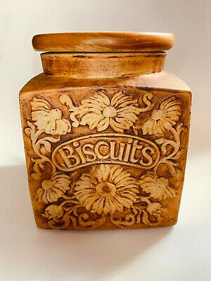 £19.99 • Buy Vintage West Country Somerset Sunflower Quantock Pottery Biscuits Jar