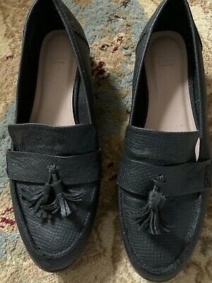 Womens Size 10 Shoes. Evans. Black Slip On Tassle • 0.99£