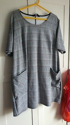 Yours Clothing Grey Check Work Dress - Size 22/24 • 7£
