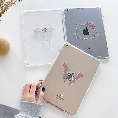 £14.99 • Buy Bling Glitter Diamond Case Fr Apple IPad Pro Air Bow Butterfly Armor Clear Cover