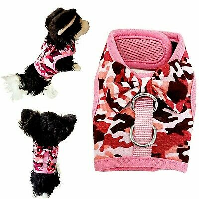 £9.99 • Buy Pink Girly Camouflage Print Mesh Breathable Puppy Dog Harness Dog Kitten Rabbit