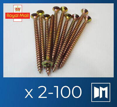 £4.45 • Buy 70 Mm WOOD TIMBER CHIPBOARD SELF TAPPING SHARP SCREWS THREADED MULTIPURPOSE PZ2