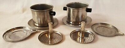 Vietnamese Phin Coffee Filter Set Of 2 Stainless • 10.73£