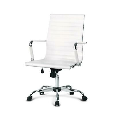 AU111.90 • Buy Artiss Gaming Office Chair Computer Desk Chairs Home Work Study White Mid Back