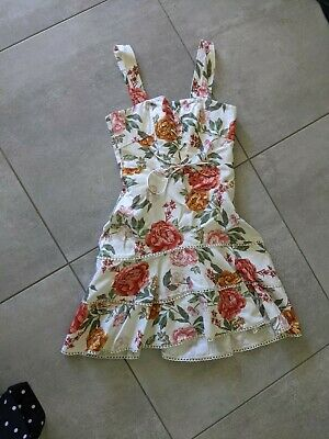 AU25.50 • Buy Forever New Lucy Lace Up Floral Linen Dress  8