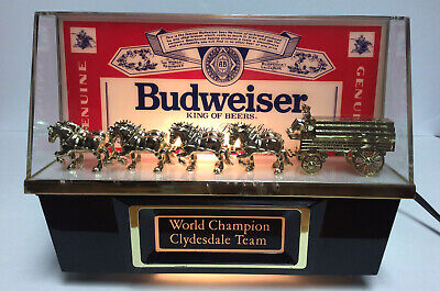 $ CDN79.80 • Buy Budweiser World Champion Clydesdale Team Advertising Light Vintage Bar Sign