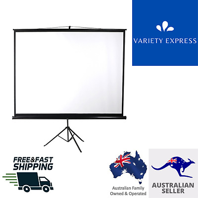 AU118.99 • Buy Projector Screen Tripod Stand Home Pull Down Outdoor Screens Cinema 3D