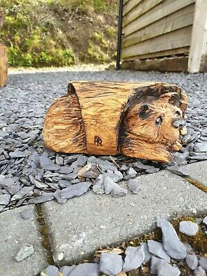 £49.99 • Buy Chainsaw Carved Hardwood  Bear In A Log