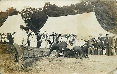 Postcard Photo Of Sawtry Games In Cambridgeshire 1910 ? RRR • 30£