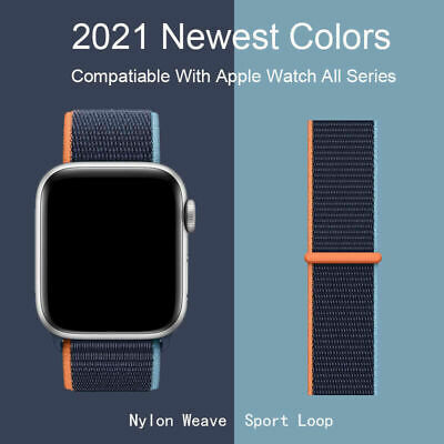 $ CDN3.62 • Buy Nylon Sport Loop IWatch Band For Apple Watch Series 6 5 4 3 2 1 SE 38/42/40/44mm