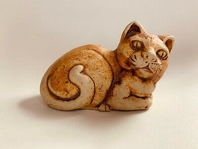 £12.99 • Buy Quantock Design Pottery Seated Cat Figurine Stamped To Base