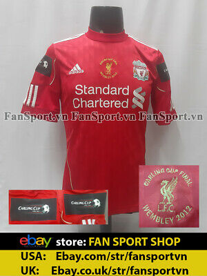 £149 • Buy Liverpool Carling League Cup Final 2012 Home Shirt Jersey Red 2010 2011 Original