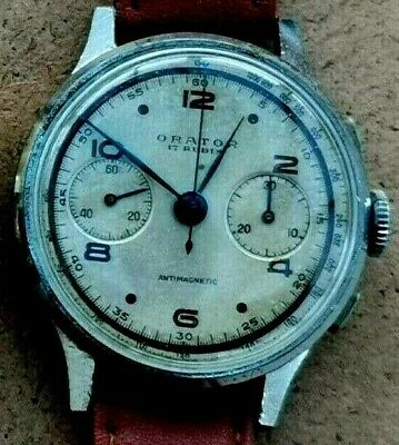 $ CDN200.05 • Buy Vintage Orator Swiss Mens Chronograph Swiss Wristwatch - Lovely