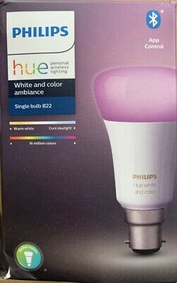 AU44.63 • Buy Philips Hue Single Dimmable LED Bulb B22 In White And Colour Ambiance  806 Lumen