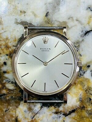 AU2575.81 • Buy Rolex Cellini Vintage 18k Pink Gold Ultra Thin Screw Back Unusual Mens Watch!!!