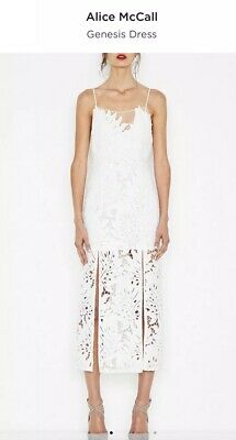 AU125 • Buy BNWT Alice Mccall Genesis Lace Formal Dress Size 4 RRP$420 White