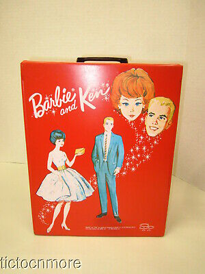 $ CDN12.08 • Buy Vintage Barbie & Ken Double Doll Trunk Case Saturday Date & Party Date Red