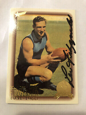 AU79.99 • Buy Rare Len Fitgerald Hand Signed Collingwood Fc Afl Hall Of Fame Card With Coa