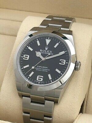 AU14850 • Buy Rolex Explorer 39mm Steel Watch Ref.214270 Complete Set