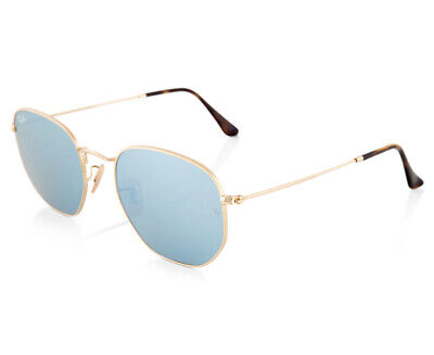 AU148.54 • Buy Ray-Ban Hexagonal Flat Lenses RB3548N Sunglasses - Gold/Grey  AA151