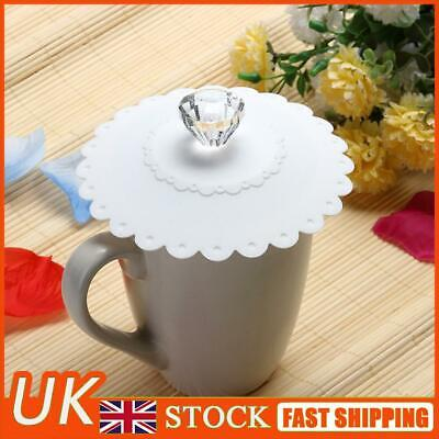 £3.97 • Buy Silicone Cup Lid Glass Drink Cover Anti-dust Coffee Mug Thermal Insulation White