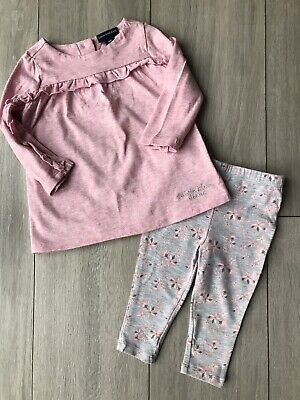 CALVIN KLEIN GIRLS Age 12 MONTHS TOP AND LEGGINGS • 3.99£