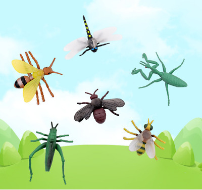 £4.99 • Buy 12pcs Plastic Realistic Insect Model Figure Toys Pack For Kids Assorted Bugs UK