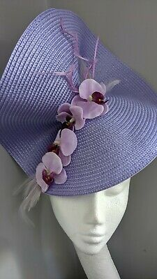 £18 • Buy Lavender Woven Straw Style Fascinator With Orchids, Race's And Weddings