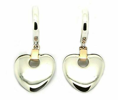 £99.99 • Buy Clogau Silver Earrings Dangle Drop 9ct Rose Gold Cariad Heart Engraved 3SCDE010