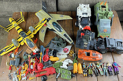 $ CDN844.55 • Buy HUGE Vintage GI Joe Action Figure , Vehicles , Planes Parts Accessory Lot 80's