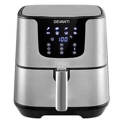 AU125.90 • Buy Devanti Air Fryer 7L LCD Fryers Oil Free Oven Airfryer Kitchen Healthy Cooker