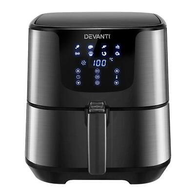 AU125.90 • Buy Devanti Air Fryer 7L LCD Fryers Oven Airfryer Kitchen Healthy Cooker Stainless S