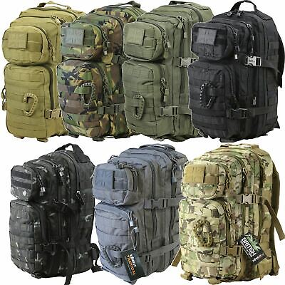 £24.49 • Buy Kombat UK Small Tactical Army Assault Military Molle Back Pack Rucksack 28L